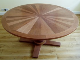 Bespoke round wooden table